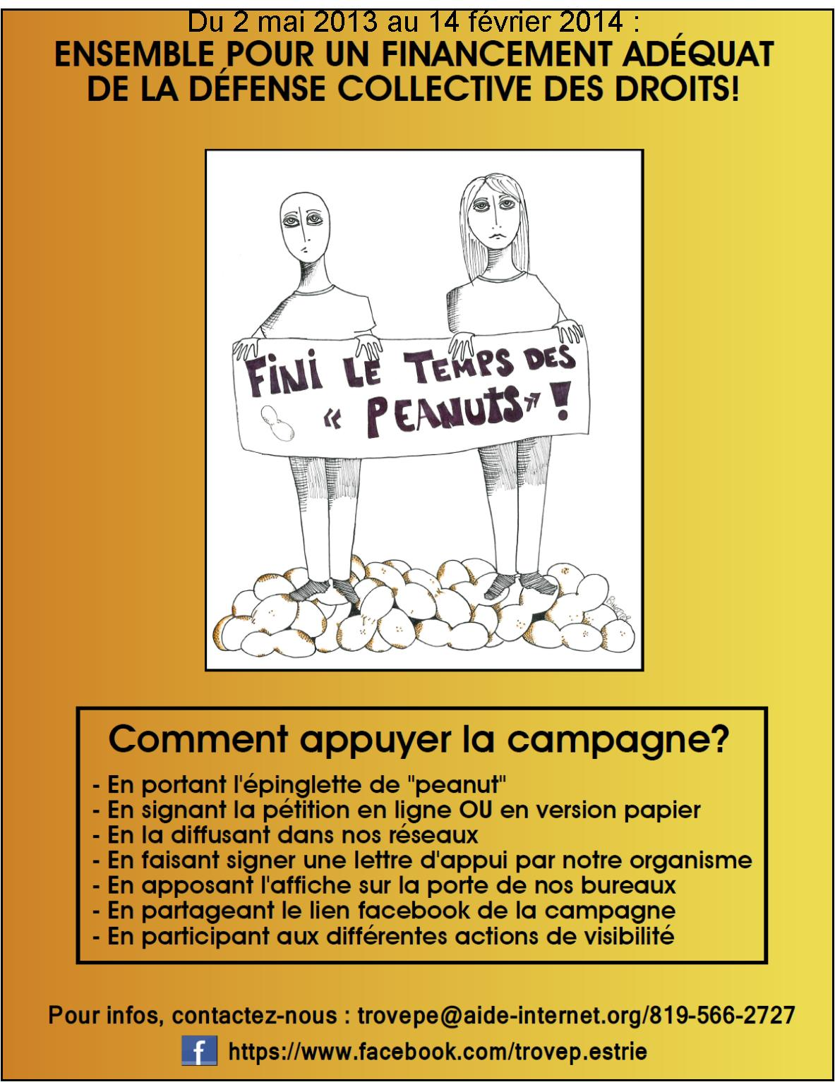 affiche campagne peanuts prolongee